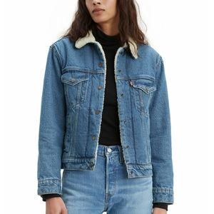 NEW Levi's Sherpa Denim Jacket NEW Size XS